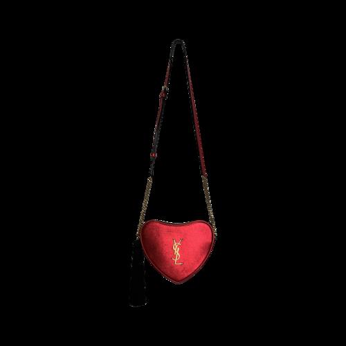 Yves Saint Laurent Red Monogram Heart Crossbody Bag