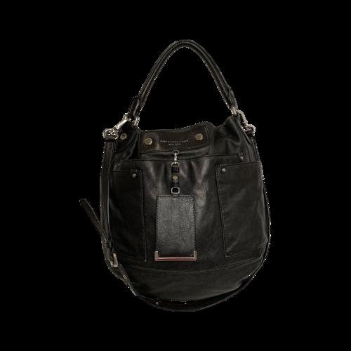 "Marc Jacobs Black ""Preppy"" Hobo Leather Bag"