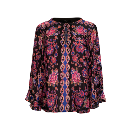 Nanette Lepore Floral Print Silk Blouse