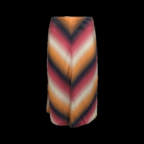 Trina Turk Multi-Color Chevron Stripe Skirt