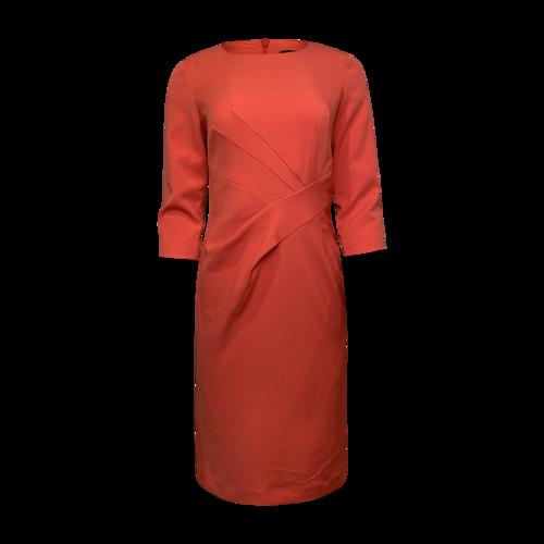 St. John Deep Coral Sheath Dress