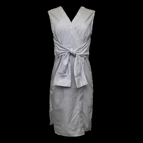 Alexander Wang Deconstructed Striped Shirt Dress