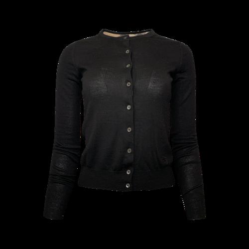 Burberry Black Button-Up Cardigan