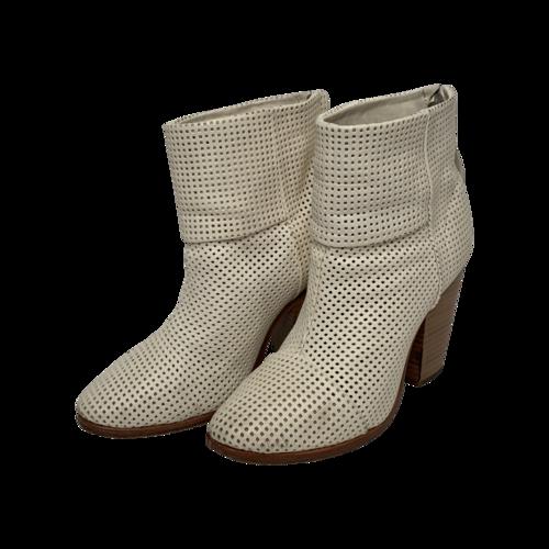 "rag & bone White Classic ""Newbury"" Perforated Leather Boots"