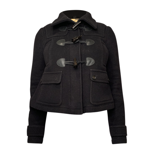 Burberry Black Peacoat with Toggles