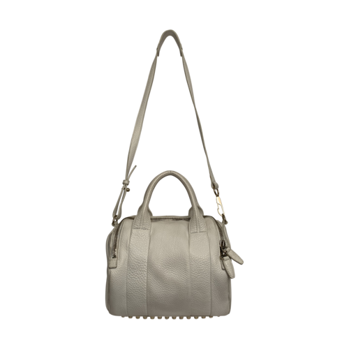"""Alexander Wang White """"Rocco"""" Soft Pebbled Leather Bag"""