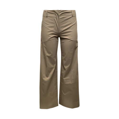 "Max Mara Khaki ""Saturno"" Wide Leg Trousers"
