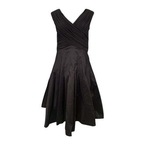 Tadashi Shoji Black Dress w/ Structured Skirt