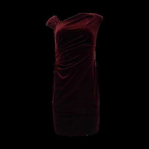 Ralph Lauren Burgundy Red Velvet Dress