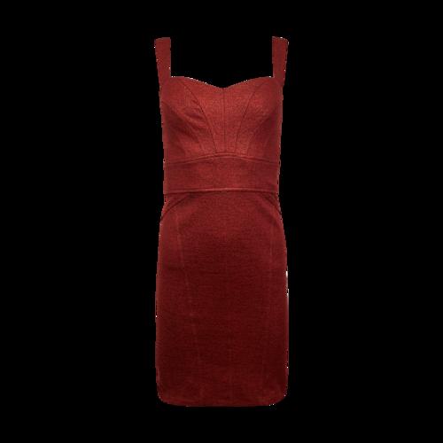 Diane von Furstenberg Red Sparkly Form Fitting Dress