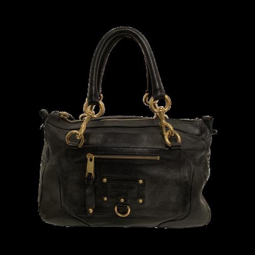 Marc Jacobs Black Hobo Bag w/ Gold Hardware