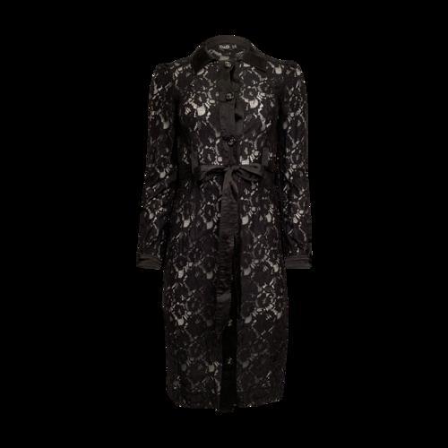 Dolce & Gabbana Black See-Thru Button Up Dress