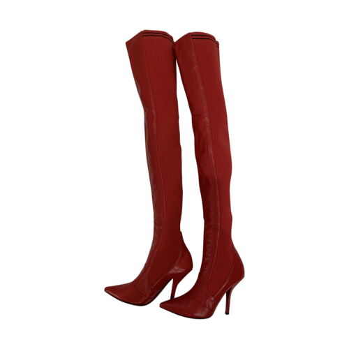 "Fendi Red ""Rockoko"" Thigh-High Boots"