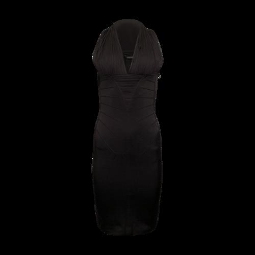 Versace Black Body-Con Dress