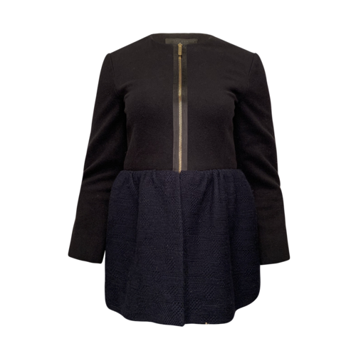 The Row Black and Blue Peplum Jacket