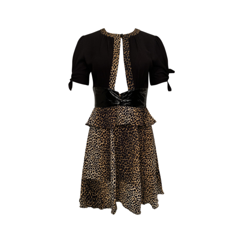 Dolce & Gabbana Leopard and Pleather Dress