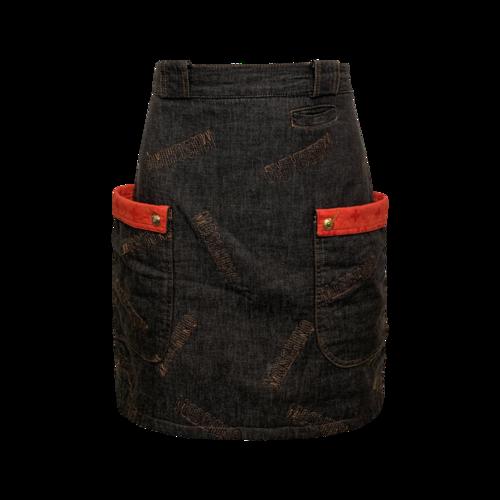 Moschino Logo Denim Skirt