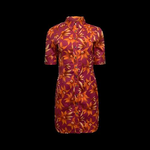 Versace Tropical Print Shirt Dress