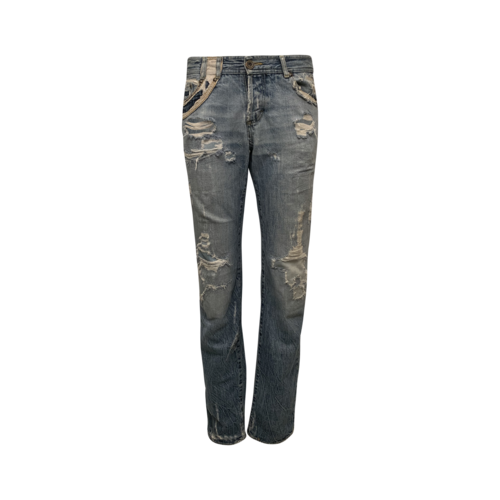 Roberto Cavalli Distressed Jeans