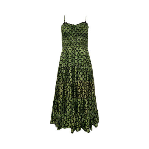 Betsey Johnson Green Leaf Printed Dress