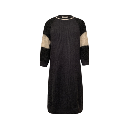 Brunello Cucinelli Grey Cashmere Sweater Dress
