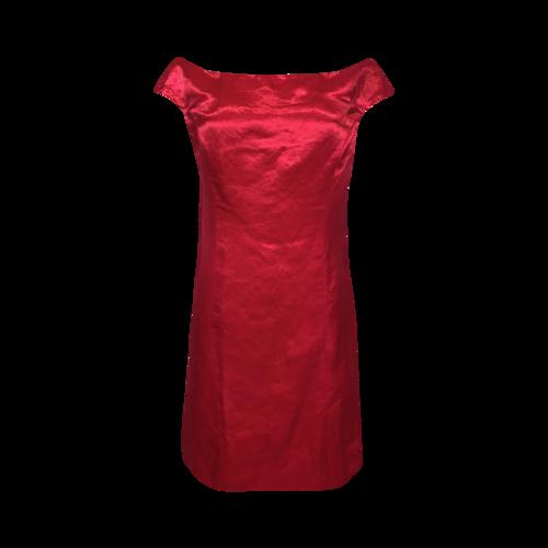 Dior Pink Satin Off-the-Shoulder Dress