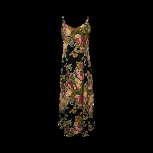 Betsey Johnson Dark Navy Blue Floral Print Maxi Dress