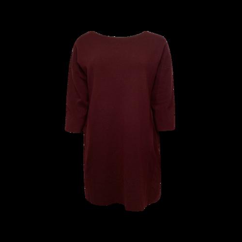 Vince Maroon Contrast Back Sweater Dress