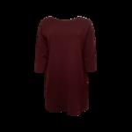 Maroon Contrast Back Sweater Dress