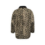 Leopard Print Double-Breasted Jacket