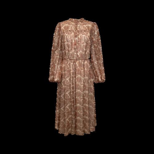 Adam Lippes Paisley Print Chiffon Long Sleeve Dress