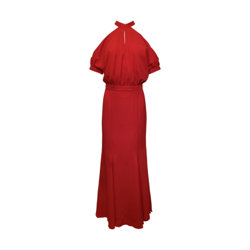 Fame and Partners Red Cold Shoulder Gown