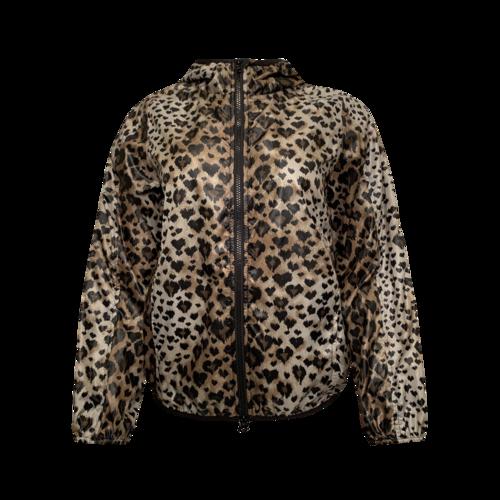Valentino Leopard Print Windbreaker Jacket