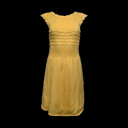 Valentino Yellow Knit Dress