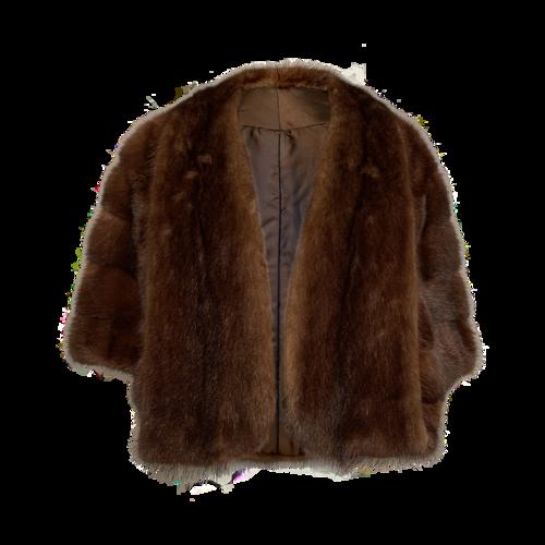 Vintage Brown Faux Fur Stole