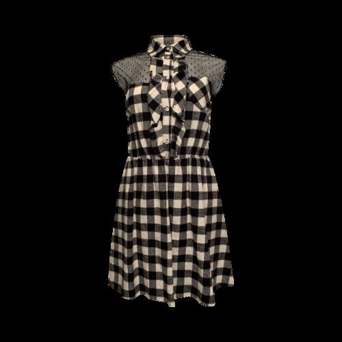 Valentino Gingham Ruffle Dress
