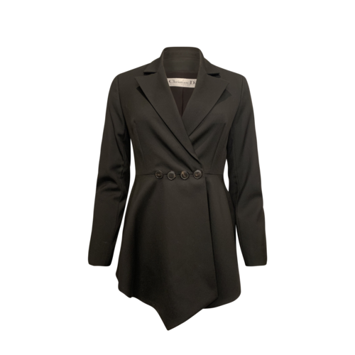 Dior Black Asymmetrical Tux Blazer