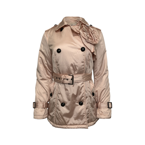 Valentino Pink Puffer Trench Coat w/ Rosette