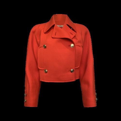 Valentino Orange Textured Jacket