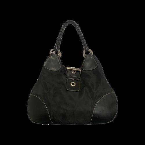 Prada Black Tessuto Hobo Shoulder Bag
