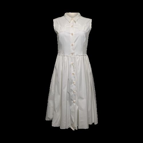 Prada White Sleeveless Shirtdress