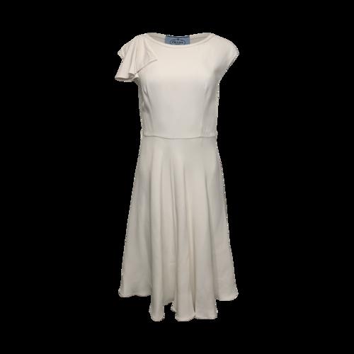 Prada Cream Ladylike Flare Dress