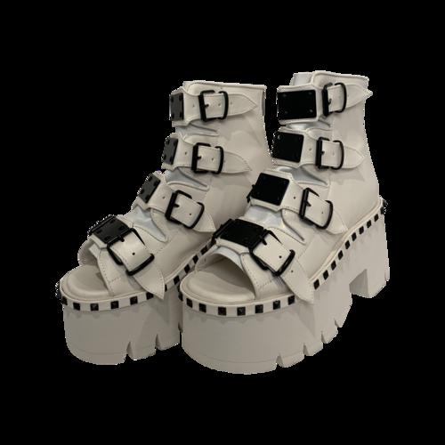 "Demonia White ""Ashes"" Platforms"