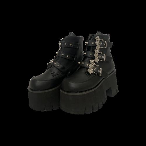 """Demonia Black """"Ashes"""" Platforms"""