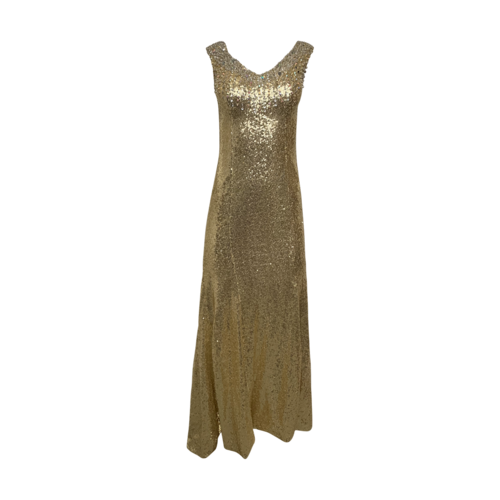 Custom Made Gold Sequin Gown
