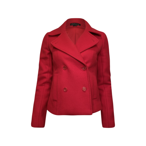 Theory Red Wool Peacoat