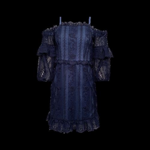 "Parker Blue ""Irma"" Off-the-Shoulder Lace Dress"