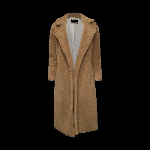 Something Navy Brown Faux Fur Teddy Coat