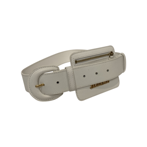 JACQUEMUS White Zipped Pouch Belt