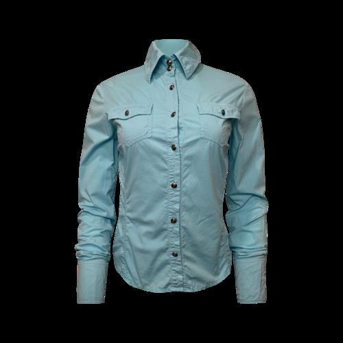 Versace Vintage Versace Blue Button-Up Shirt